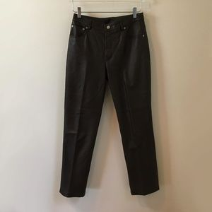 Vintage Newport News Brown High Rise Leather Pants